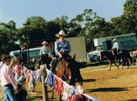 Gill & Hollywood in a Western Pleasure Class